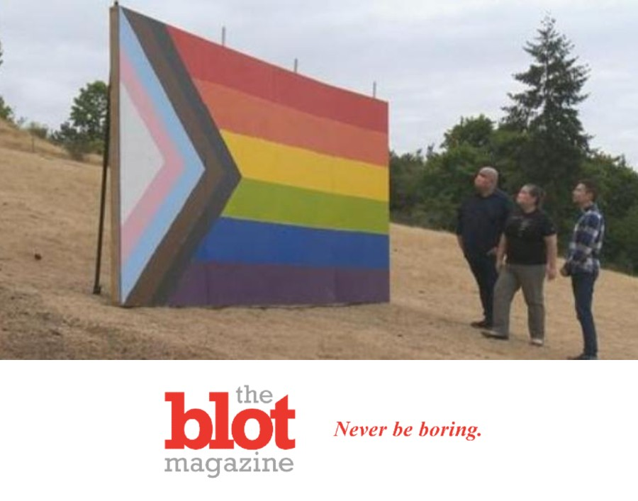 Oregon Farmers Put Up Huge Gay Pride Flag After Local School Ban